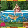 Bestway Multi-color Vinyl Kids' Play Pool - Size 7.5 x 7.5 x 1.8 Feet - Age 5+ - #51123