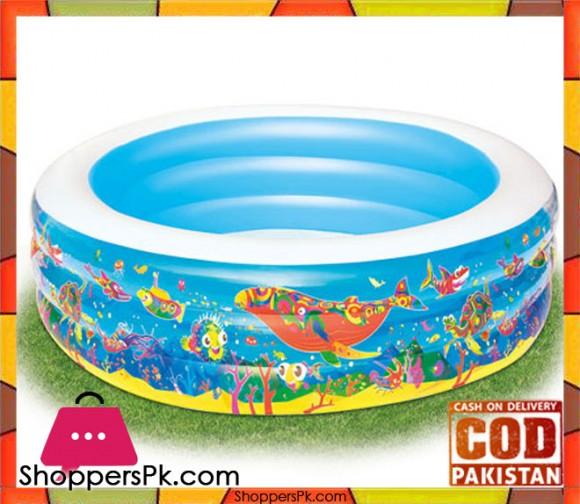 Bestway Multicolor Vinyl kids' Play Pool-Size 2.5 x 1 Feet - Age 4+ - #51122