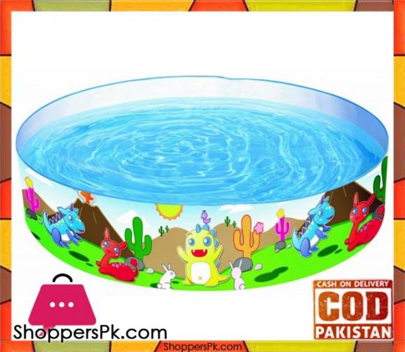 Bestway Multicolor Vinyl kids' Play Pool - Size 6 x 1.2 Feet - Age 3+ #55022