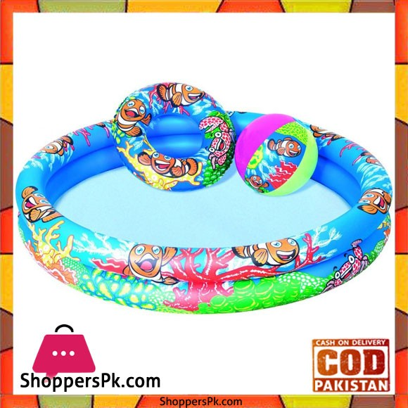 Bestway Play Pool 4 Feet with Swim Ring and Ball For 3-6 Years Kids #51124