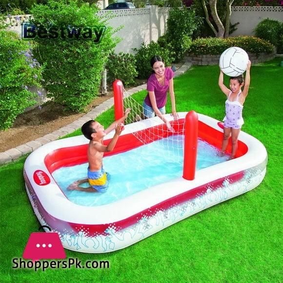 Bestway Vinyl Kids' Play Pool - Size 8.3 x 5.5 x 3 Feet - Age 4+ - #54125