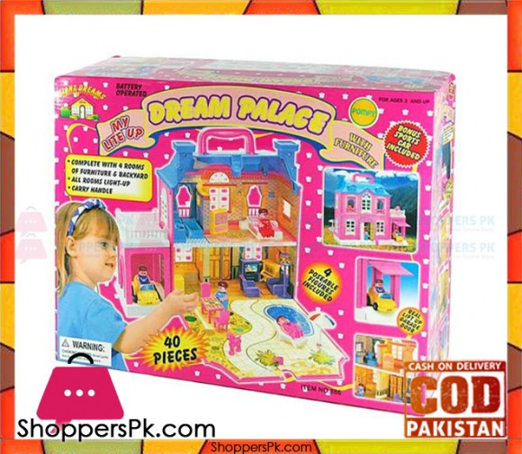 Dream Palace Doll House 40 Pieces