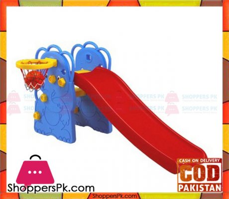 Edu Plays Play Center ELEPHANT WITH BASKETBALL HOOP Slide For Kids WJ-310 Price in Pakistan (1)