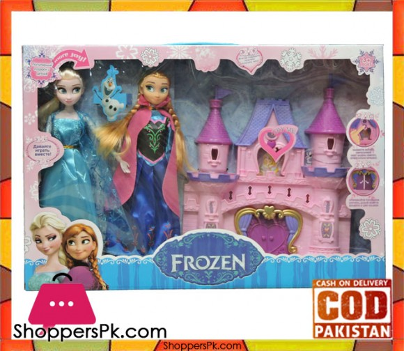 Frozen Doll House with Dolls