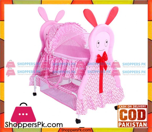 High Quality Baby Rocking Cradle Pink