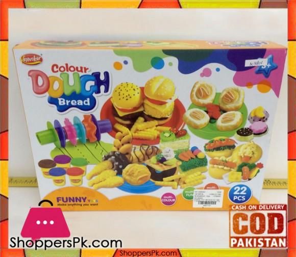 Kids Color Dough Bread 22 Pcs
