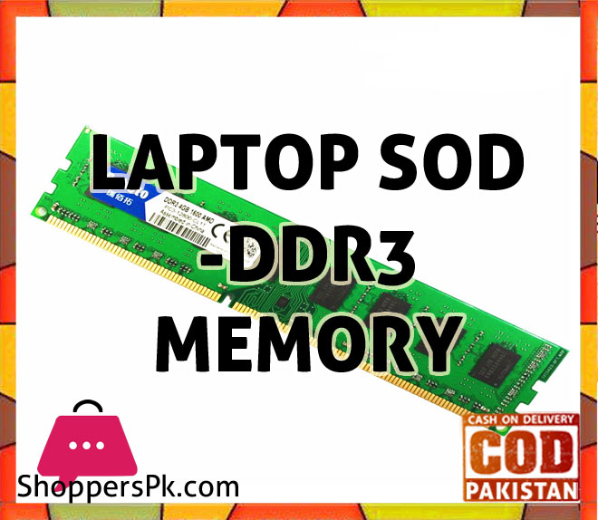 Laptop SOD - DDR3 Memory Price in Pakistan