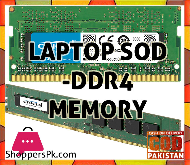 Laptop SOD - DDR4 Memory Price in Pakistan