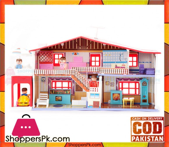 My Deluxe Doll House 50 Piece Play Set