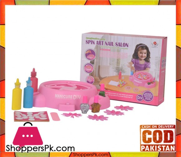 Spin Art Nail Salon For Kids