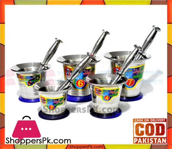 Stainless Steel Mortar and Pestle (Imam Dasta) Number # 2