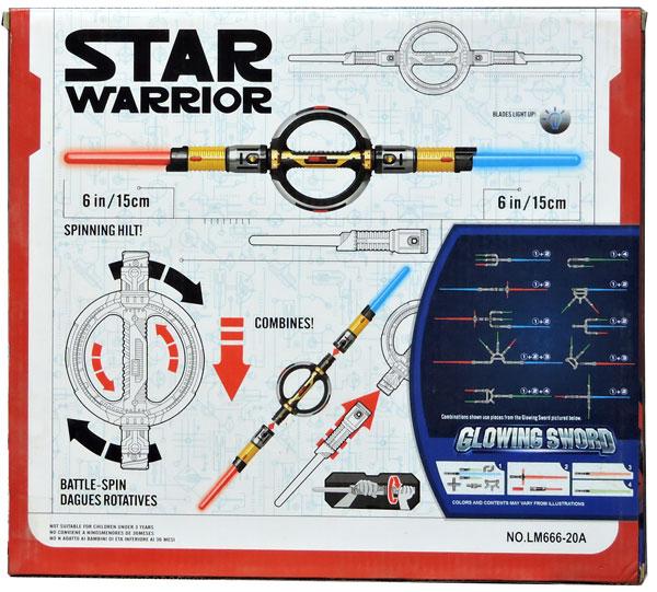 Star Warriors Glowing Sword Blades Light Up