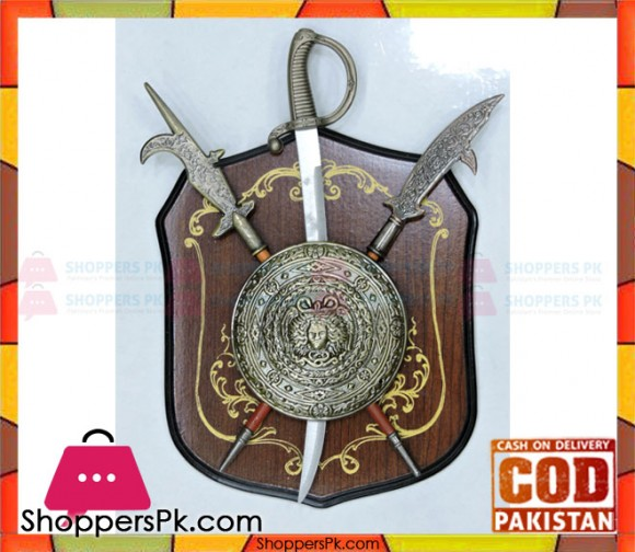 Wall Decoration Wooden Shield