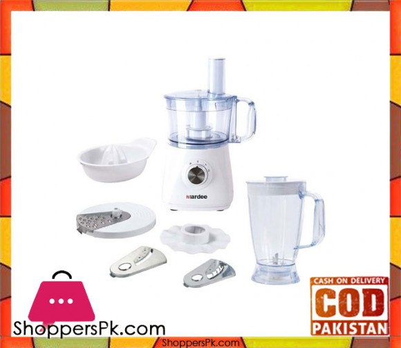 AARDEE 8 In 1 Food Processor with Blender - ARFB-500 - 500W - White - Karachi Only