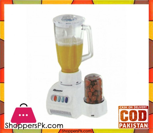 Absons AB-03 - 2 In 1 Blender & Dry Mill - White - Karachi Only