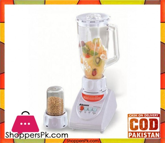 Absons AB-01 - 2 in 1 Blender & Dry Mill - White - Karachi Only