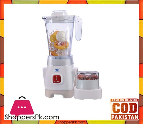 Anex AG-6036 - 2 in 1 Blender - 350W - White (Brand Warranty) - Karachi Only
