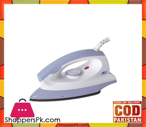 Anex AG-2075 - Dry Iron - White (Brand Warranty) - Karachi Only