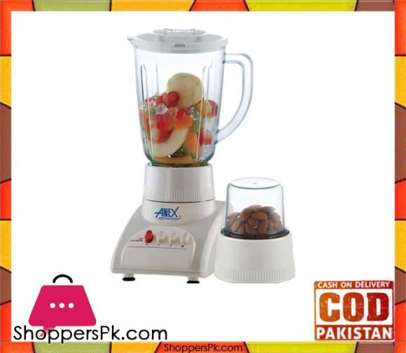 Anex AG-6021 - 2 in 1 Blender - 350 W - White - Karachi Only