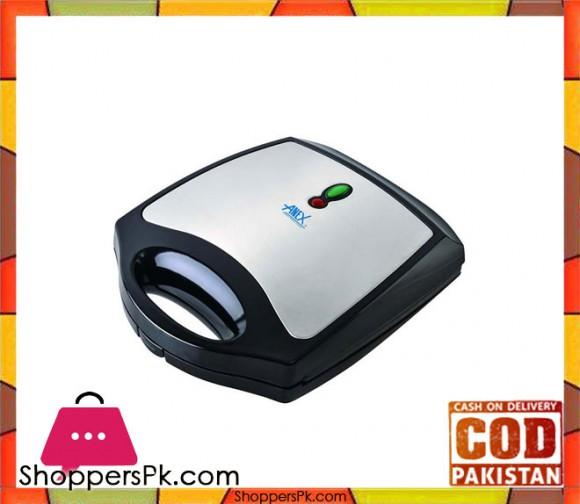 Anex AG-2037 - 4 Slice Sandwich Maker - Black (Brand Warranty) - Karachi Only