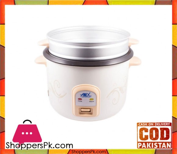 Anex AG-2023 - Deluxe Rice Cooker - White - Karachi Only