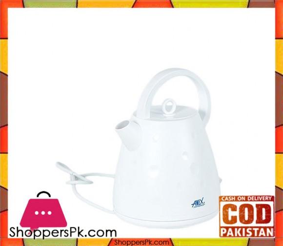 Anex Deluxe Fancy Kettle - AG 4043 - White - Karachi Only