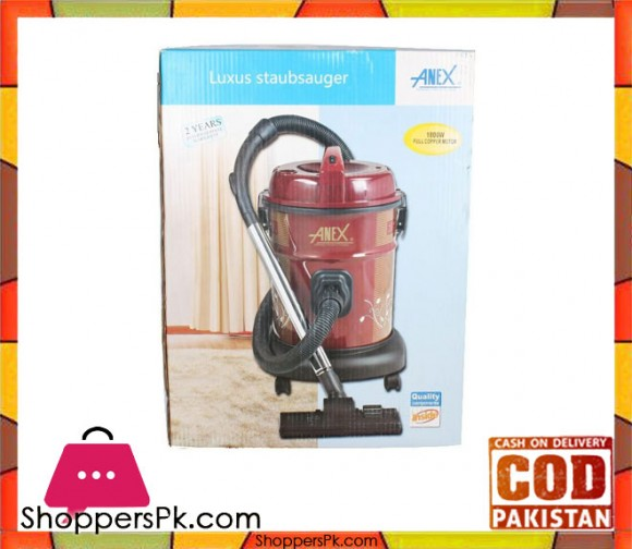 Anex AG-2098 - Vacuum Cleaner - 1500 Watts - Red - Karachi Only