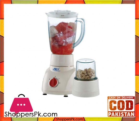 Anex 2 in 1 - Blender - AG-6024 - 400 W - White - Karachi Only
