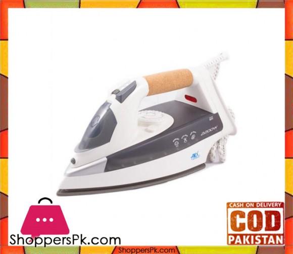 Anex AG-1022 - Deluxe Steam Iron - White & Grey - Karachi Only