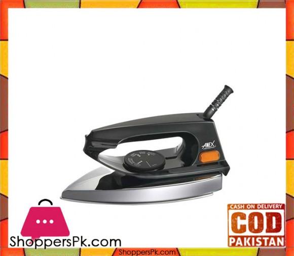 Anex AG-1072 - Dry Iron - Black & Silver - Karachi Only