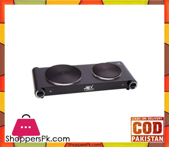 Anex AG-2062 - Deluxe Hot Plate Double - Black - Karachi Only