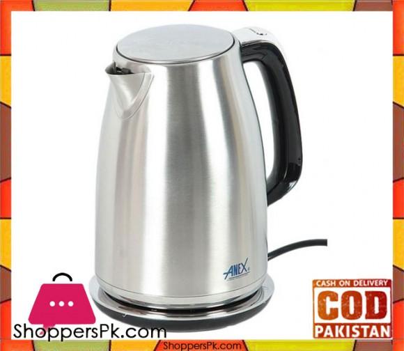 Anex Deluxe Kettle - AG 4048 - 1.7 LTR - Silver & Black - Karachi Only
