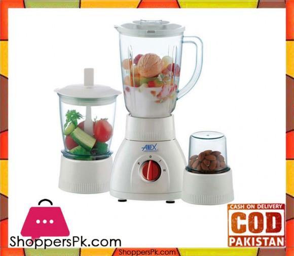Anex 3 in 1 Blender - 450 W - White - Karachi Only