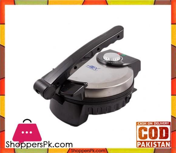Anex AG-3062 - Deluxe Roti Maker - Black & Silver - Karachi Only