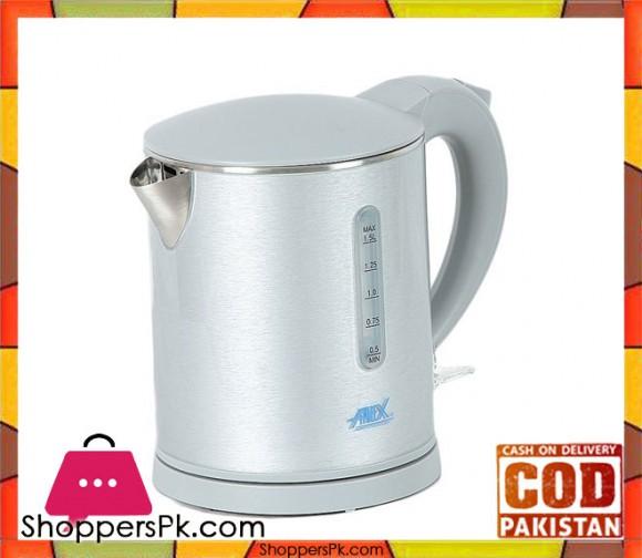 Anex Water Kettle - 1.5 Liter - Silver - Karachi Only
