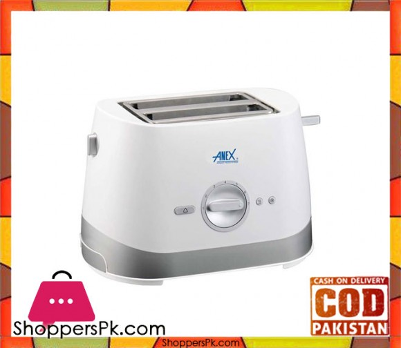 Anex AG-3019 - 2 Slice Toaster - White - Karachi Only