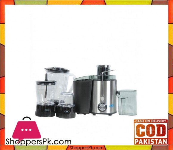 Anex 4 in 1 - Food Processor AG 174 - Silver & Black - Karachi Only
