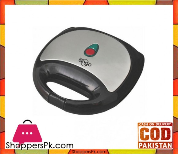 Bingo Bingo - BSM-301 - Sandwich Maker - Black - Karachi Only