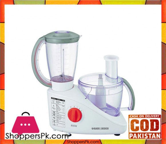 Black & Decker FX-800 - Food Processor - 800 Watt - White - Karachi Only