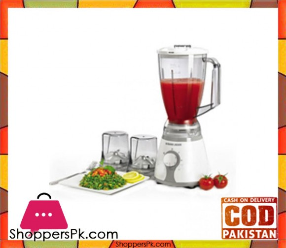 Black & Decker BX275 300W - Blender with Chopper/Grinder - 220V - White - Karachi Only