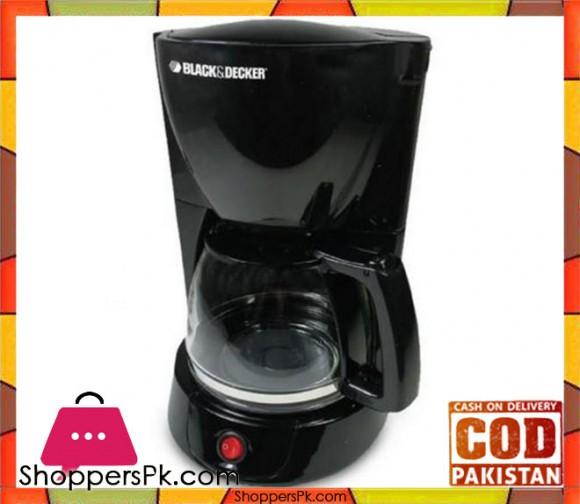 Black & Decker DCM-600-B5 800-Watt - 10 Cups Coffee Maker - Black - Karachi Only
