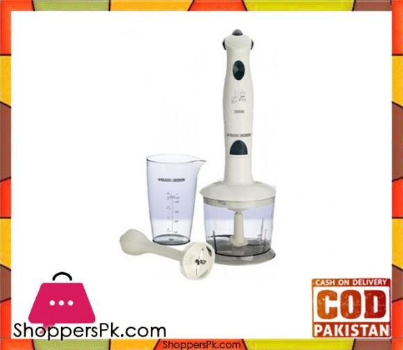 Black & Decker Sb-3140 - hand blender - 300watt-white - Karachi Only