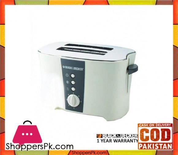Black & Decker Toaster ET122 - White - Karachi Only