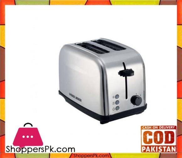Black & Decker ET222 2 - Stainless Steel Pop-up Toaster - Grey - Karachi Only