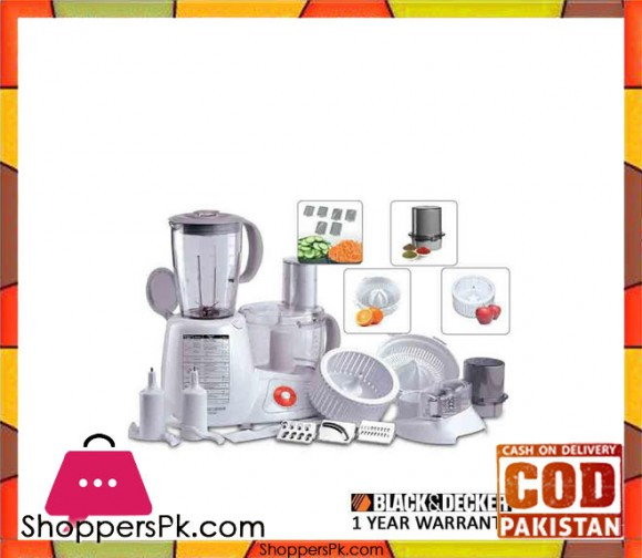 Black & Decker Food Processor - FX 1000 - White - Karachi Only