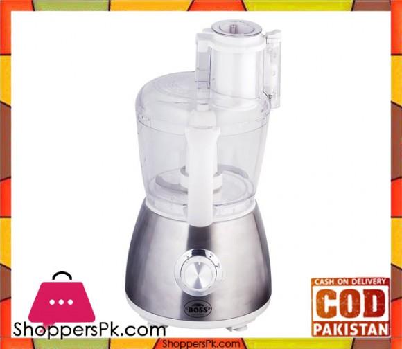 Boss Food Processor - KE-FF-601 - White with Steel Plate - Karachi Only