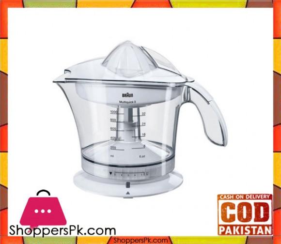 Braun Citrus Press Juicer - MPZ-9 - White - Karachi Only