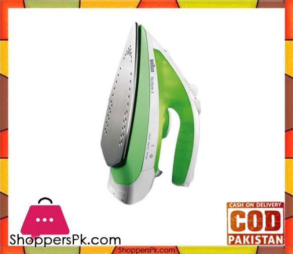 Braun TexStyle 3 Steam Iron - TS 330 - Green - Karachi Only