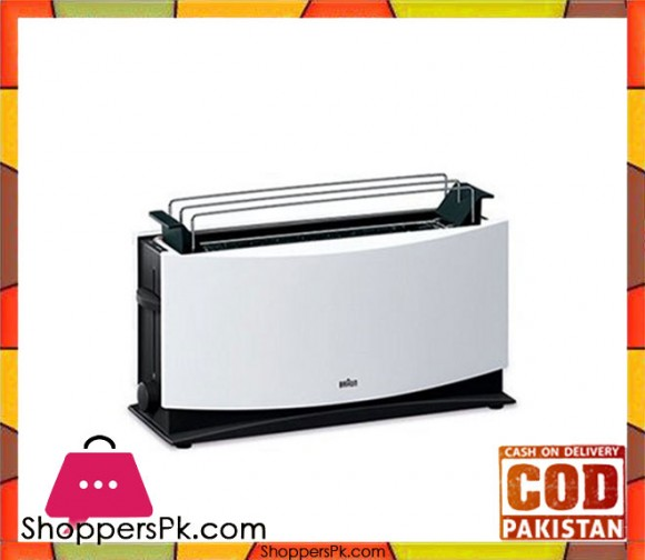 Braun HT-550 - MultiToast, 4 Slot Toaster - White - Karachi Only