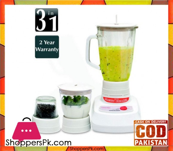 Cambridge Appliance BL 220 - 3 in 1 Blender - White - Karachi Only